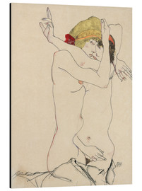 Aluminium print  Two friends - Egon Schiele
