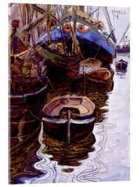 Acrylglas print  Boats in the port of Trieste - Egon Schiele