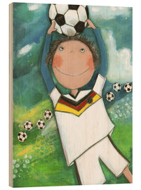 Hout print  Football is my life - Atelier BuntePunkt