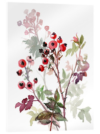 Acrylglas print  Rosehips - Verbrugge Watercolor