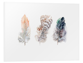 PVC print  3 feathers - Verbrugge Watercolor