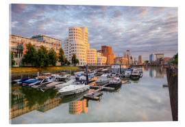 Acrylglas print  Evening sun in the Media Harbour Dusseldorf - Michael Valjak