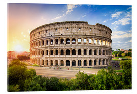 Acrylglas print  Colosseum at sunset in Rome, Italy - Jan Christopher Becke