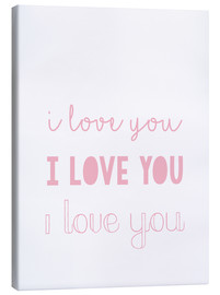 Canvas print  I love you pastel - Finlay and Noa