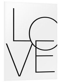 PVC print  LOVE - Finlay and Noa