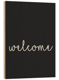 Hout print  Welcome - Finlay and Noa