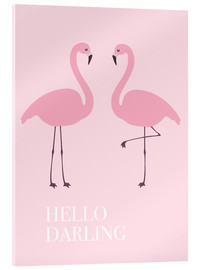 Acrylglas print  Hello Darling Flamingo - Finlay and Noa