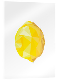 Acrylglas print  Polygon lemon - Finlay and Noa