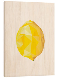 Hout print  Polygon lemon - Finlay and Noa