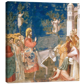 Canvas print  The Entry into Jerusalem - Giotto di Bondone