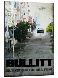 Aluminium print  Bullitt (English) - 2ToastDesign