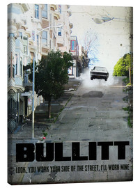 Canvas print  Bullitt (English) - 2ToastDesign