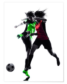 Premium poster two soccer players