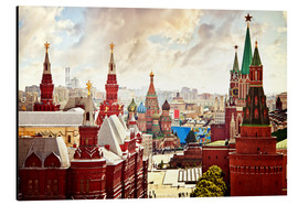 Aluminium print  Aerial view of the Kremlin in Red Square, Moscow