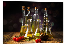 Canvas print  Oils and spices