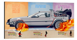 Aluminium print  Back to the Future, DeLorean - HDMI2K
