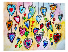 Acrylglas print  Awesome Colorful Hearts - siegfried2838