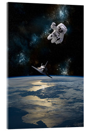 Acrylglas print  At astronaut drifting in space - Marc Ward