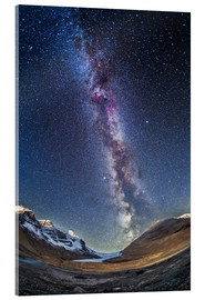 Acrylglas print  Milky Way over the Columbia Icefields in Jasper National Park, Canada. - Alan Dyer