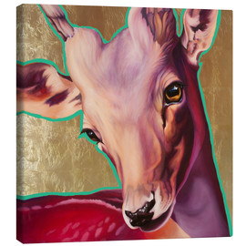 Canvas print  deer gold - Renate Berghaus