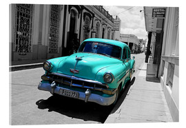 Acrylglas print  Colorspot - classic cars in the streets of Santa Clara, Cuba - HADYPHOTO