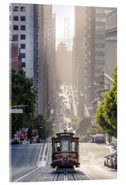 Acrylglas print  Cable car in San Francisco - Matteo Colombo