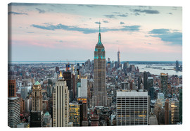 Canvas print  Manhattan skyline with Empire State building at sunset, New York city, USA - Matteo Colombo