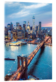 Acrylglas print  Brooklyn bridge and lower Manhattan - Matteo Colombo