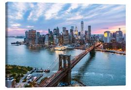 Canvas print  Uitzicht over Manhatten - Matteo Colombo