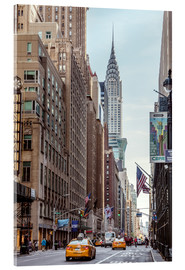 Acrylglas print  Road at the Chrysler Building - Matteo Colombo