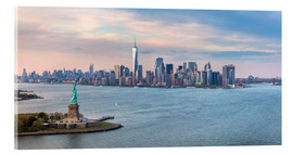Acrylglas print  New York skyline with Statue of Liberty - Matteo Colombo