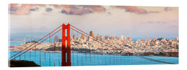 Acrylglas print  Panoramic sunset over Golden gate bridge and San Francisco bay, California, USA - Matteo Colombo