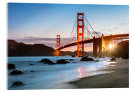 Acrylglas print  Golden Gate Bridge mystical - Matteo Colombo