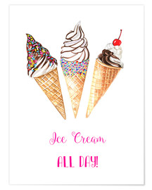 Premium poster Ice cream all day