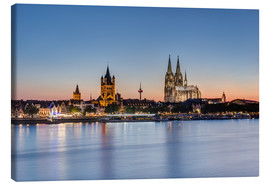 Canvas print  Summer evening in Cologne - Michael Valjak