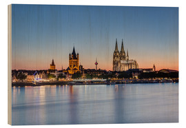 Hout print  Summer evening in Cologne - Michael Valjak