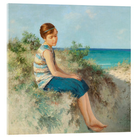 Acrylglas print  Girl in the dunes by the North Sea beach on Sylt - Hermann Seeger