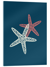 Acrylglas print  Nautical logo starfish sea nautical ocean art - Nory Glory Prints