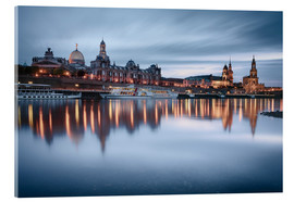 Acrylglas print  Dresden old town at the blue hour - Philipp Dase