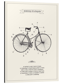 Aluminium print  Vintage parts of a bicycle anatomy - Nory Glory Prints