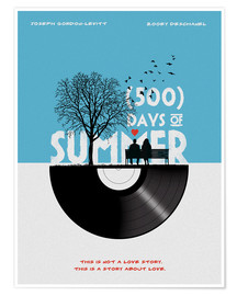 Premium poster 500 days of summer movie inspired illustration