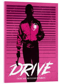 Acrylglas print  Drive Ryan Gosling - Golden Planet Prints