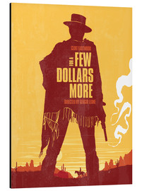 Aluminium print  For a few dollars more western movie inspired - Golden Planet Prints