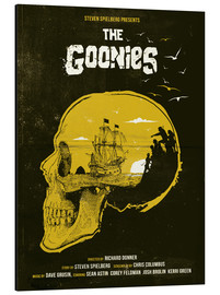 Aluminium print  The Goonies movie inspired illustration - Golden Planet Prints