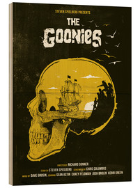 Hout print  The Goonies - Golden Planet Prints