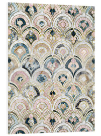 PVC print  Art Deco Marble Tiles in Soft Pastels - Micklyn Le Feuvre