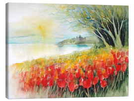 Canvas print  Tulips blossoms in Ueberlingen on Lake Constance - Eckard Funck