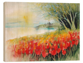 Hout print  Tulips blossoms in Ueberlingen on Lake Constance - Eckard Funck