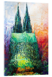 Acrylglas print  Cologne Cathedral Abstract - Renate Berghaus