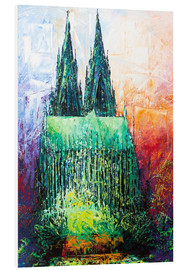 PVC print  Cologne Cathedral Abstract - Renate Berghaus